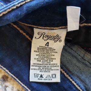 Cuffed royalty sz 4 jeans